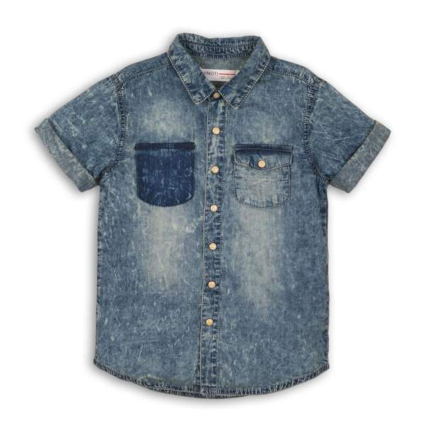 BOYS DENIM ACID WASH SHIRT  - MAX (3-8years) - Cliqq Clothing