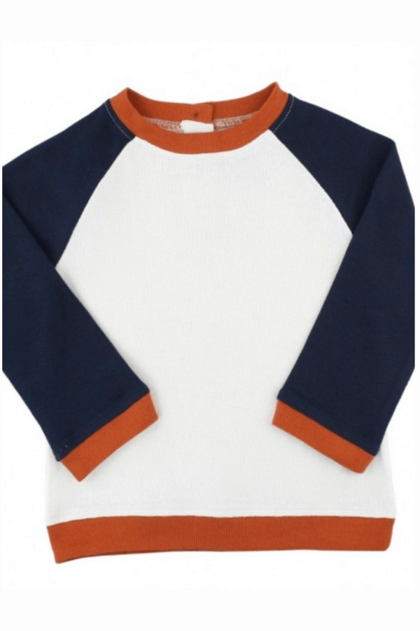 Infant and Toddler Navy Colorblock Raglan Sweatshirt