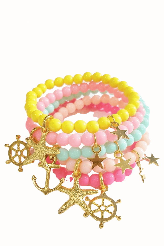 Thin Nautical Sea Life Charm Bracelets