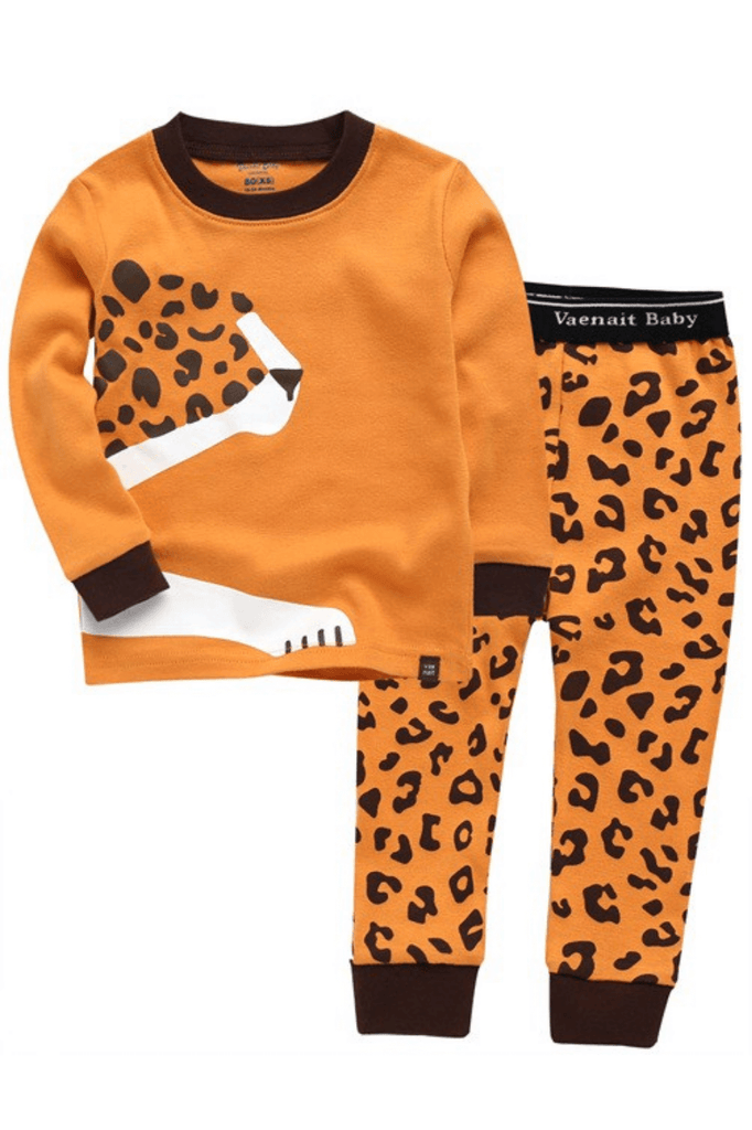 Toddler Boy Cheetah Long Sleeve Pajamas