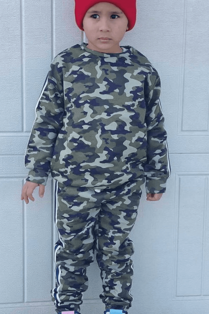 Toddler Boy Long Sleeve Set - Camouflage