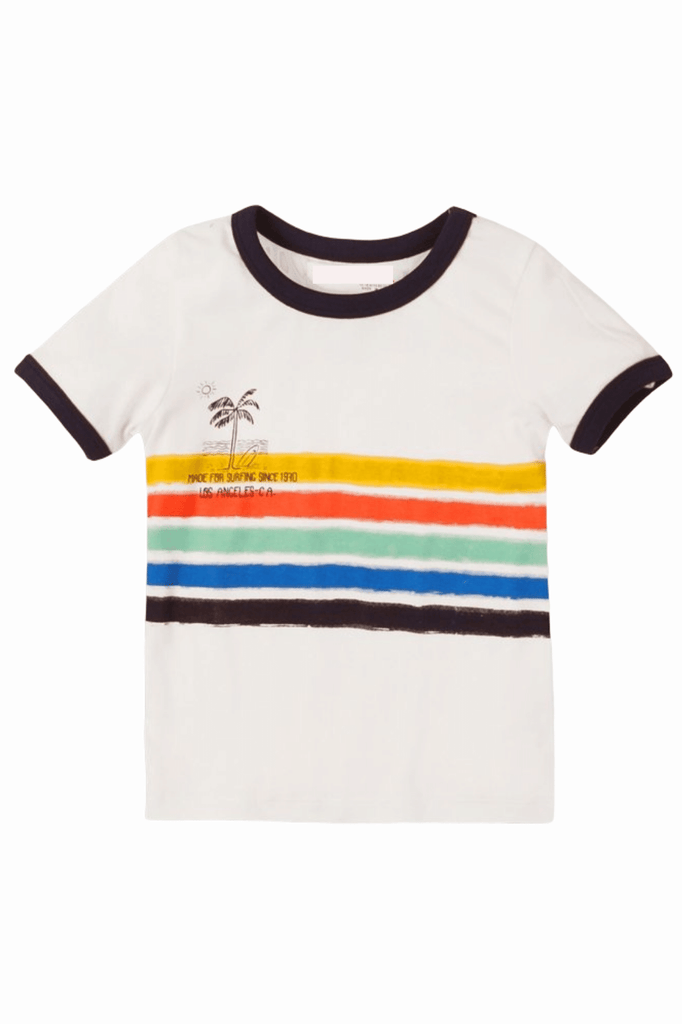 Toddler Boy Surfing Ringer Tee |