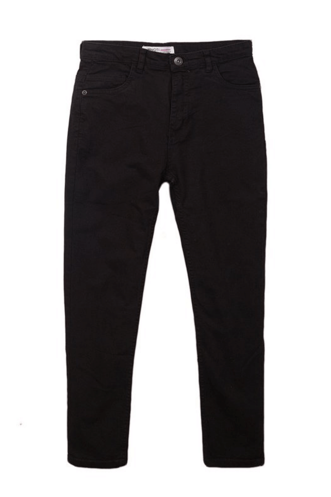 Toddler Boys Taper Fit Black Jeans