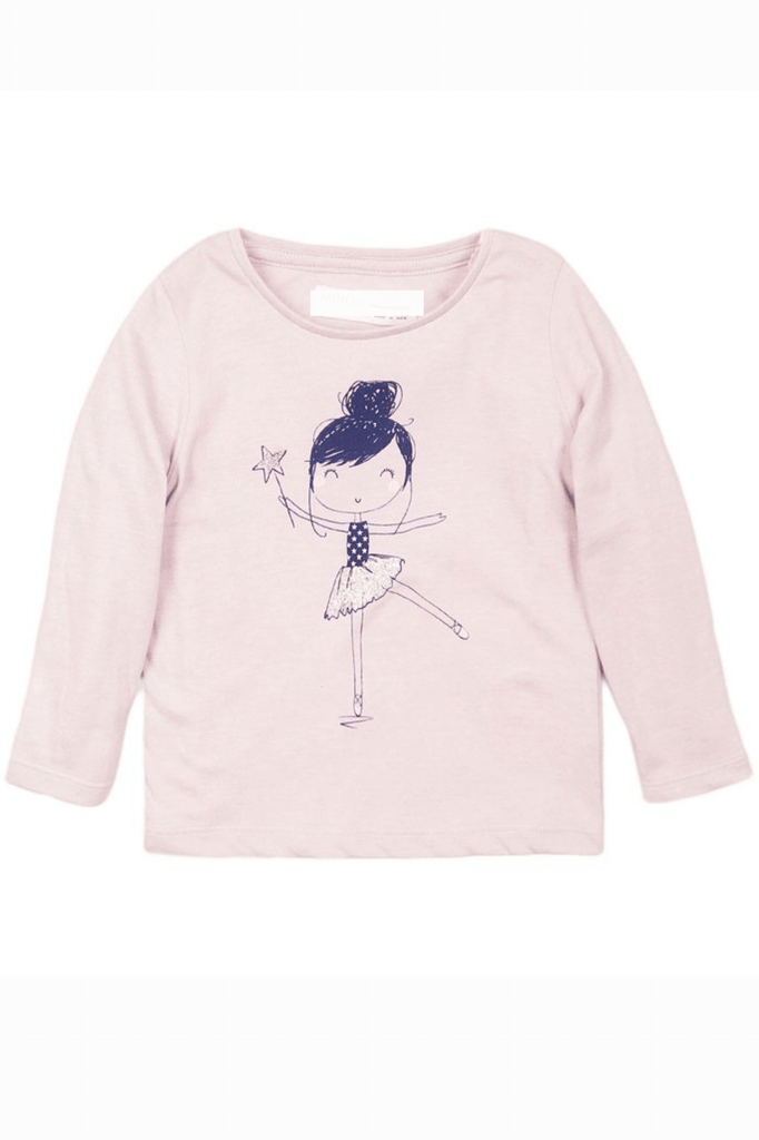 Toddler Girl Lilac Ballerina T-Shirt
