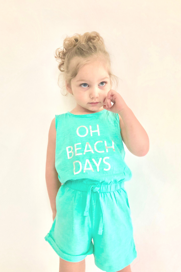BEACH PLEASE BABY GIRL PLAYSUIT (9m-3T) - Cliqq Clothing