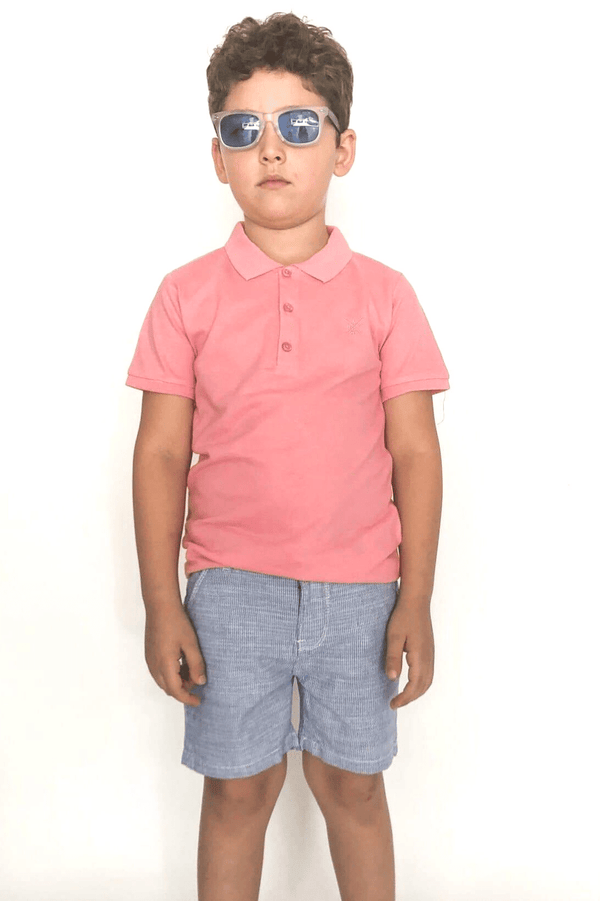Boy Striped Shorts-Gillian (3-8years) - Cliqq Clothing