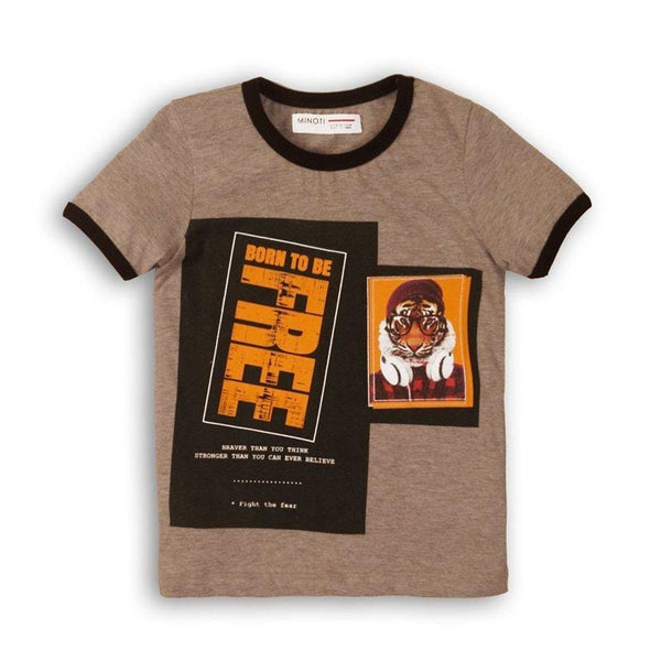 Boys Ringer Tee - Born To Be Free