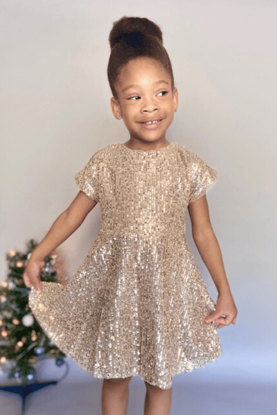 toddler sequin dress- Christmas dress