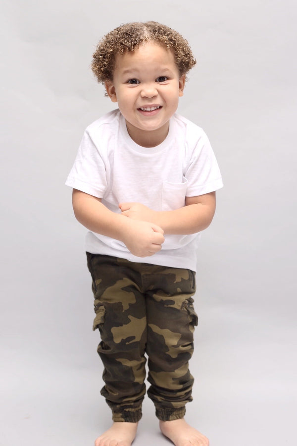 EURO WHITE TEE  (12m-7 Years) - Cliqq Clothing