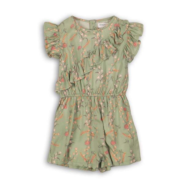 SAGE GREEN FLORAL ROMPER - The Dream (9months-8Years) - Cliqq Clothing
