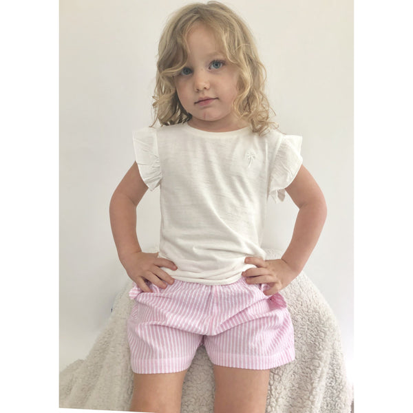 GIRL RUFFLE SLEEVE TOP - FLORA (3-8years) - Cliqq Clothing
