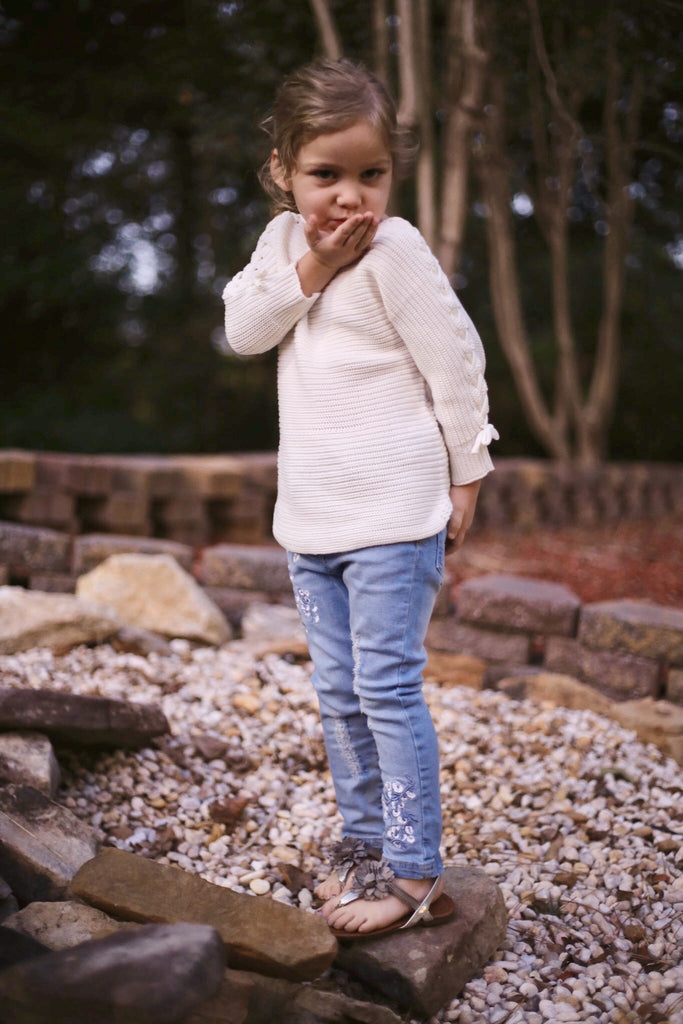 GIRL DENIM JEANS - HAZEL (3-8years) - Cliqq Clothing