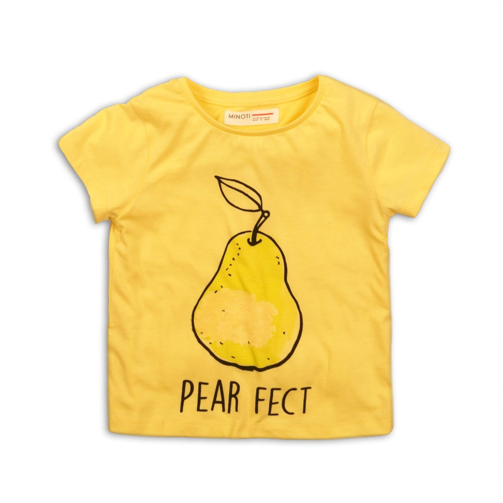 Toddler Girl Yellow Pear Fect Graphic Tee