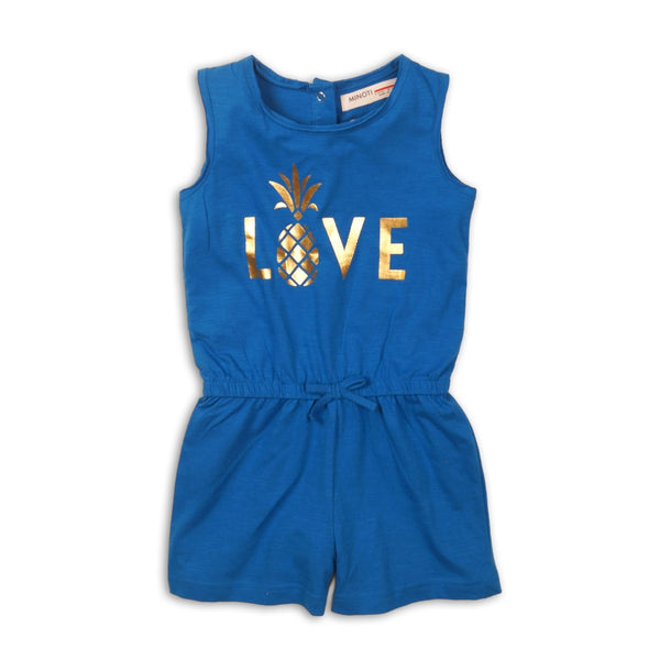 Toddler Girl Royal Blue Pineapple Love Romper