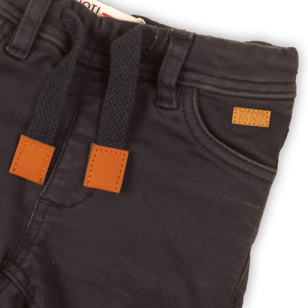 Navy Twill Shorts For Toddler Boys -Ivan Zy'eir