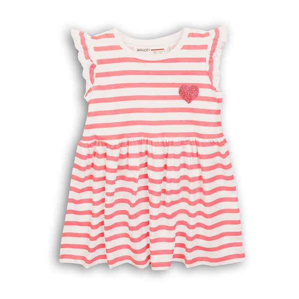 Infant Girl Pink Stripe Jersey Dress