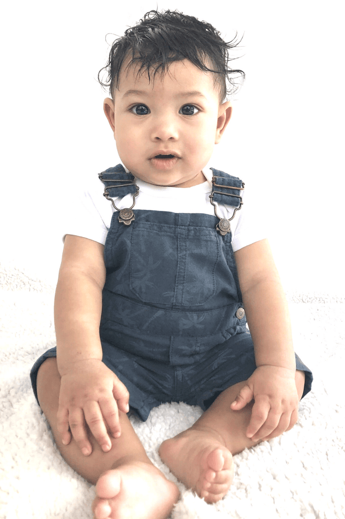 INFANT BOY BIB OVERALLS - PALMS - Cliqq Clothing