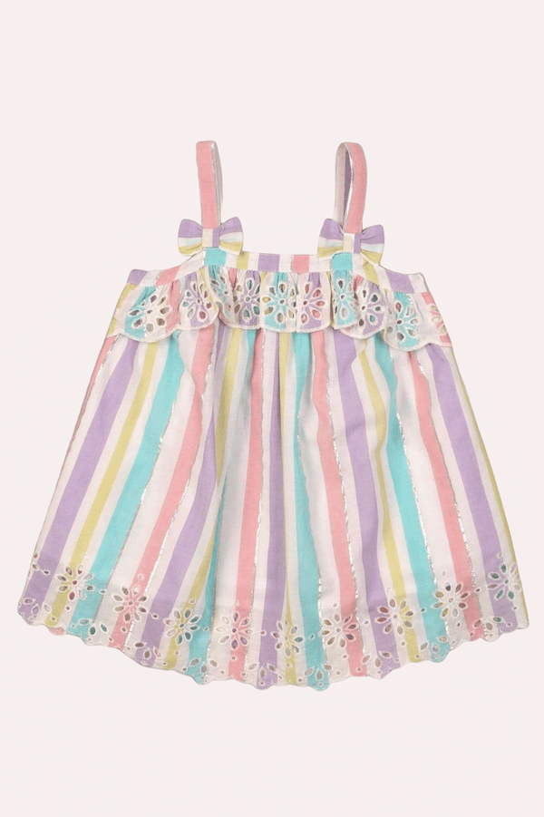 Infant rainbow multi-colored top |  DAISY (9M-3T) - Cliqq Clothing