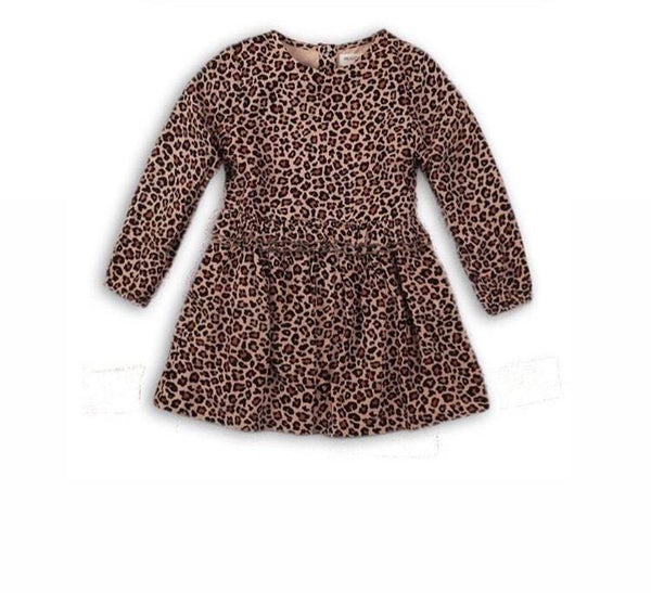 TODDLER VISCOUS LEOPARD PRINT DRESS – LANA (9m-3years) - Cliqq Clothing