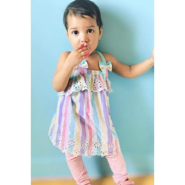 Multicolored Unicorn Girl Top - DAISY (9M-3T) - Cliqq Clothing