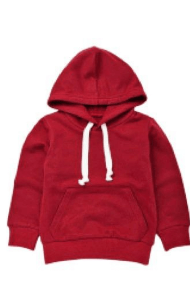 Red Sweatshirt Hoodie for Toddler Boys