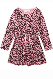 Toddler Girl Jersey Animal Print Dress | Pink