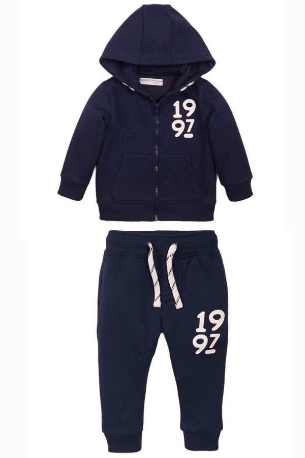 Toddler Zip-up Sweatpants and Hoodie Set | Navy Blue