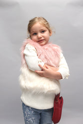 PINK GRADIENT FAUX-FUR VEST - WILLOW (9m-8years)