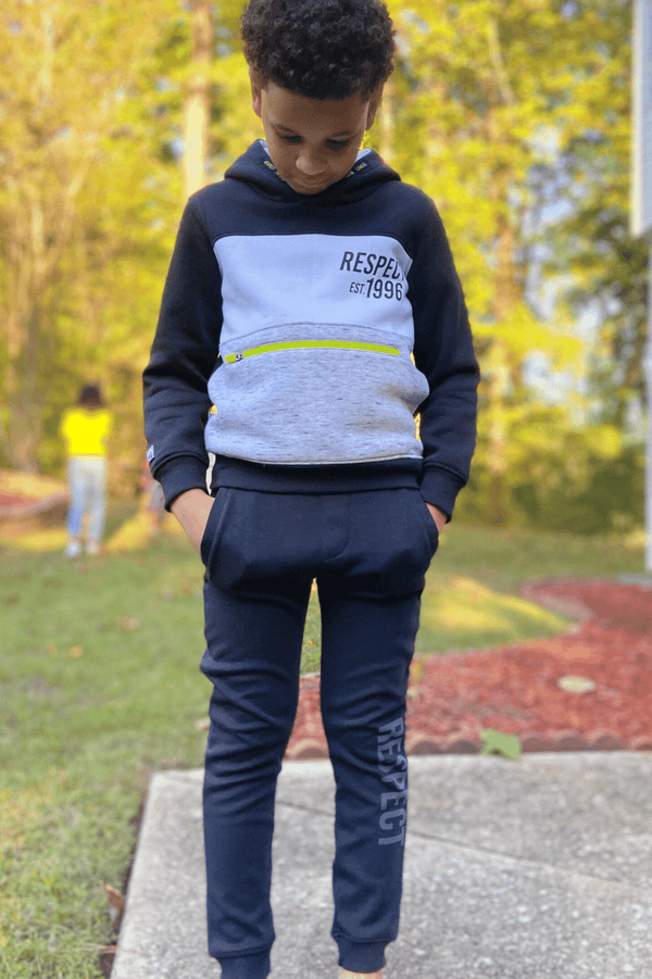 RESPECT BLACK FLEECE SWEATPANTS LUCAS -(3-8 YEARS) - Cliqq Clothing