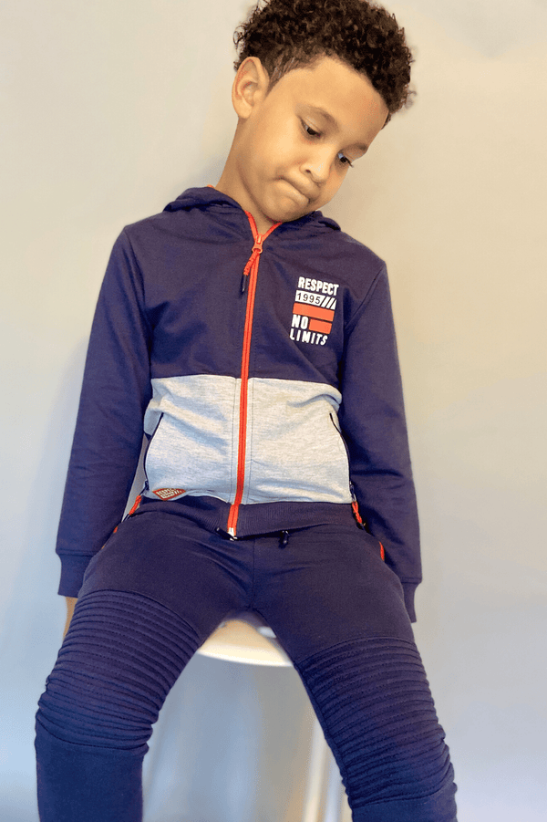 Boys Blue  Zip-up Hoodie - Zayden Zip-Up (3-8years) - Cliqq Clothing