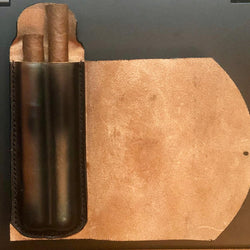 Handmade Tooled Leather Cigar Case