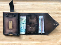 Handmade Leather Wallet Compact & Slim