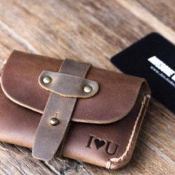 Handmade Customized Leather Card/Money Wallet