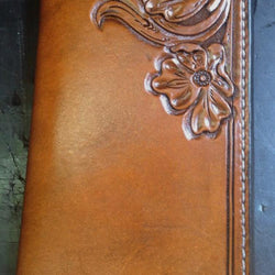 Handmade Leather Tooled Wallet