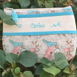 Blue Personalized Makeup Bag