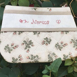 Beige Personalized Makeup Bag