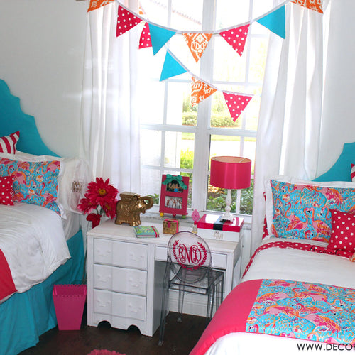 Matching Lilly Dorm Bedding