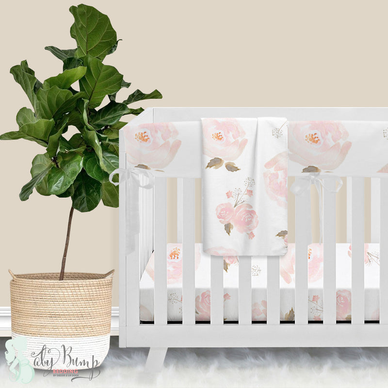 Pastel Floral Baby Crib Rail Cover