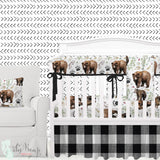 Adventure Woodland Bear Cub Baby Boy Crib Bedding Set