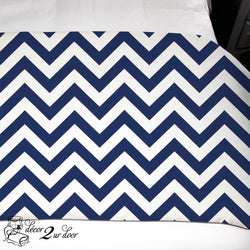 Navy Chevron Dorm TXL Bed Scarf