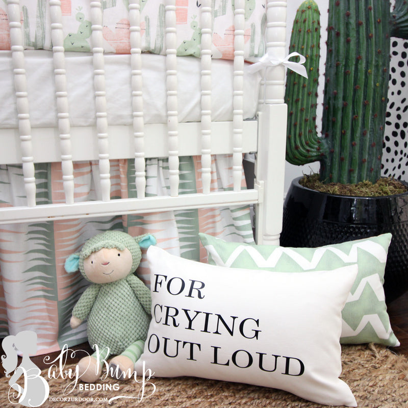 For Crying Out Loud Farmhouse Lumbar Throw Pillow Cover