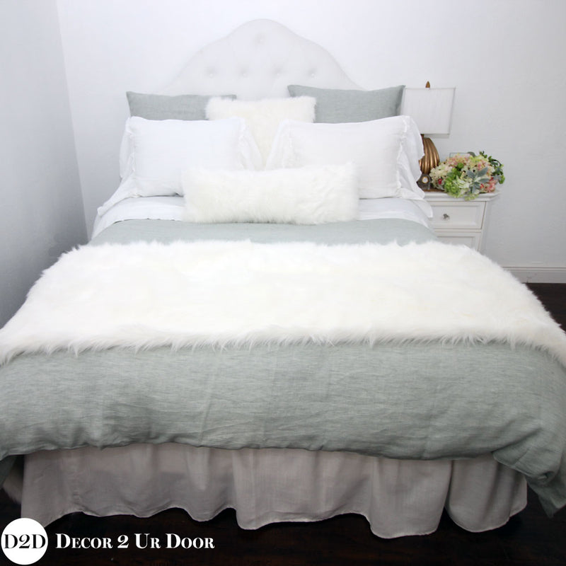 Sea Glass & White Designer Bedding Collection