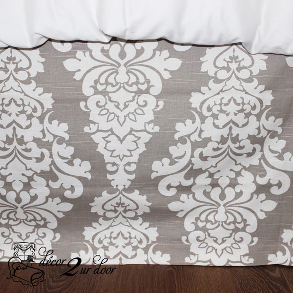 Taupe Berlin Designer Dorm Bed Skirt