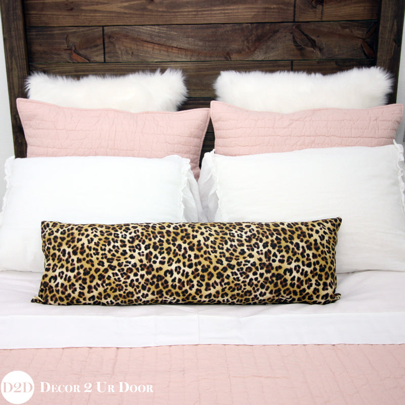 Blush Pink & Cheetah Print Designer Bedding Collection