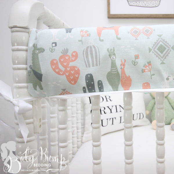 Little Llama Baby Crib Rail Cover
