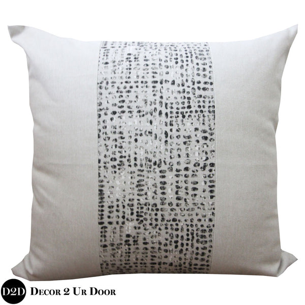 Black Dot & Laken Euro Pillow Cover