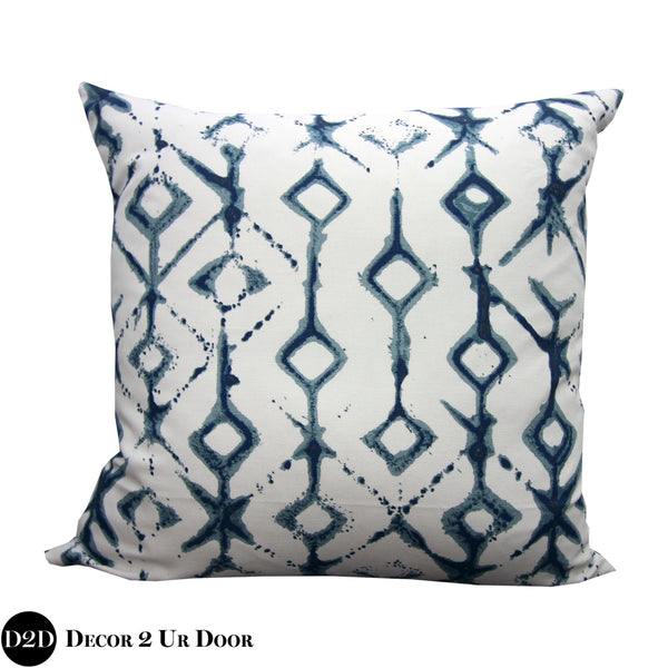 Navy & White Tribal Euro Pillow Cover