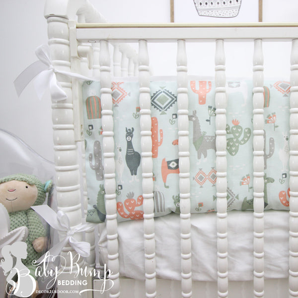 Little Llama 2-in-1 Crib Bumper/Rail Cover