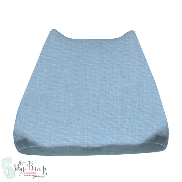 Solid Baby Blue Baby Changing Pad Cover
