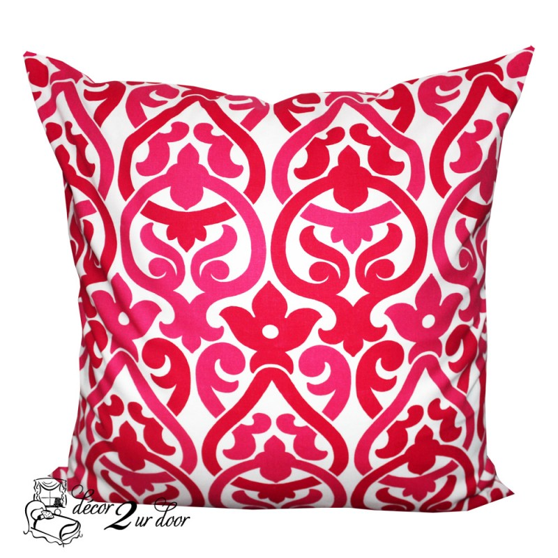 Deep Pink Alex Designer Euro Pillow Cover